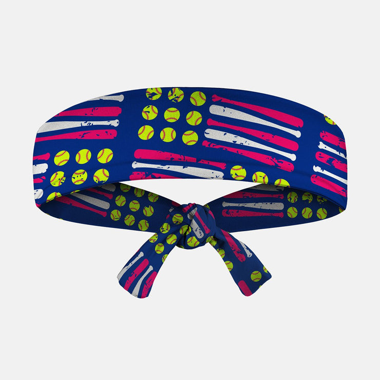 Softballs and Bats Kids Tie Headband
