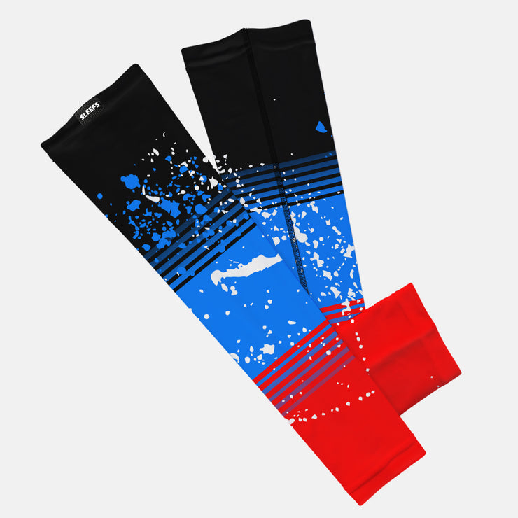 Splatter Red Blue Kids Arm Sleeve