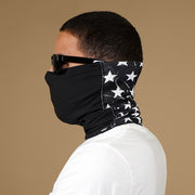 Stars Black Dry Fit / Cotton Neck Gaiter