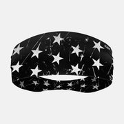 Stars Black White Headband