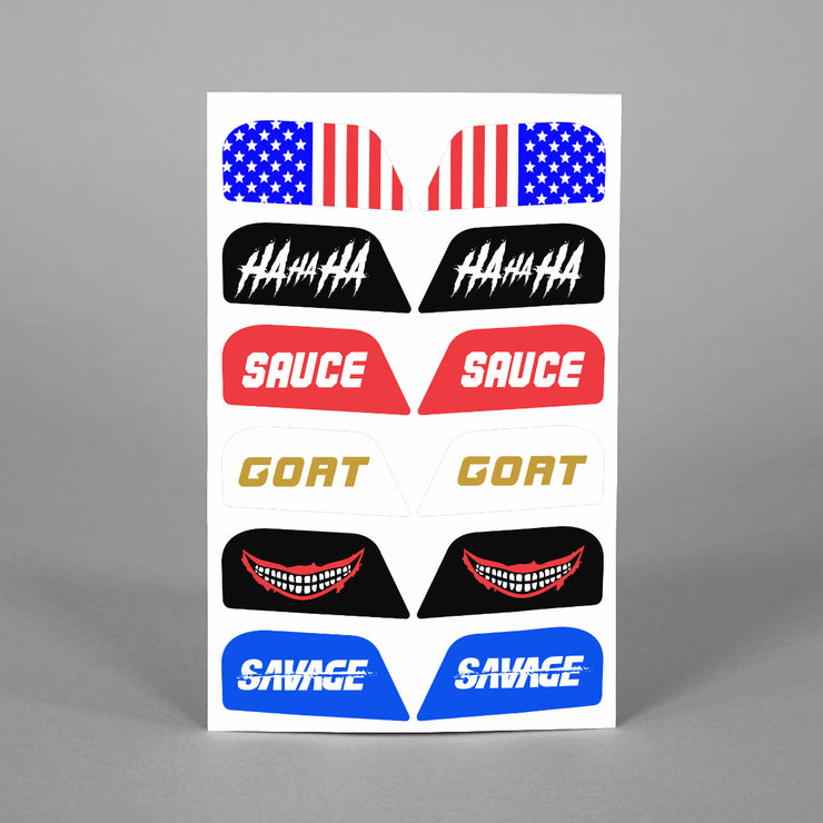 Stickers for Helmet Visor Tabs Collection #1