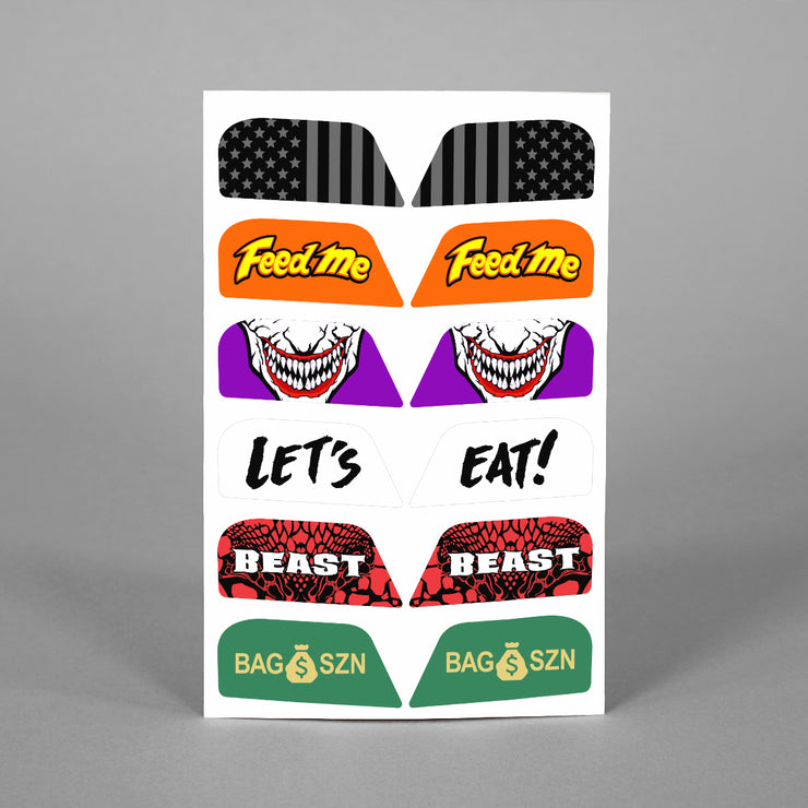 Stickers for Helmet Visor Tabs Collection #2