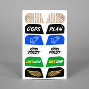 Stickers for Helmet Visor Tabs Collection #4