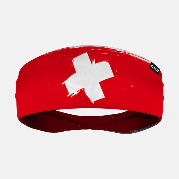 Switzerland Brushed Flag Headband