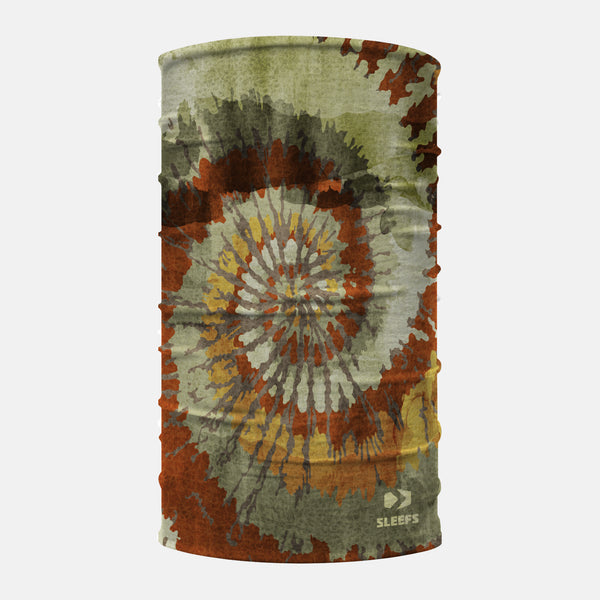 Tie Dye Leaves Neck Gaiter