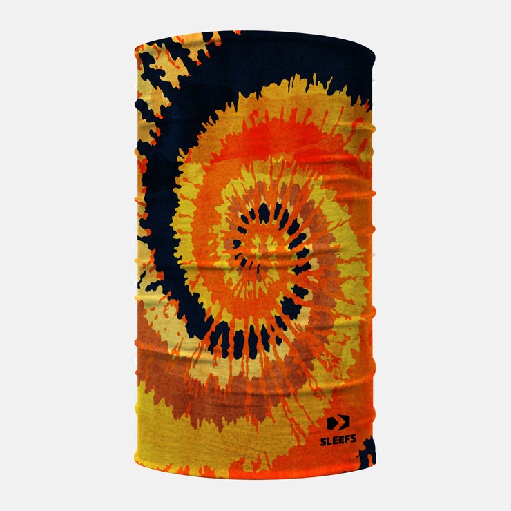 Tie Dye Orange Neck Gaiter