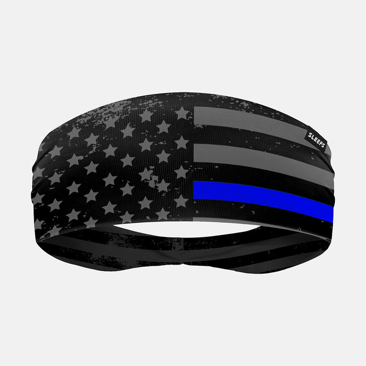 Tactical Thin Blue Line USA Flag Headband