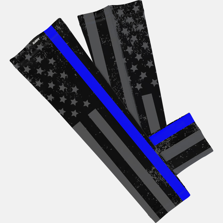 Tactical Thin Blue Line USA Flag Arm Sleeve
