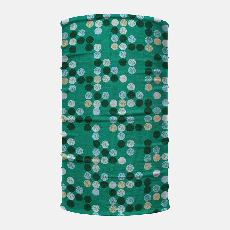 Teal Dots Neck Gaiter