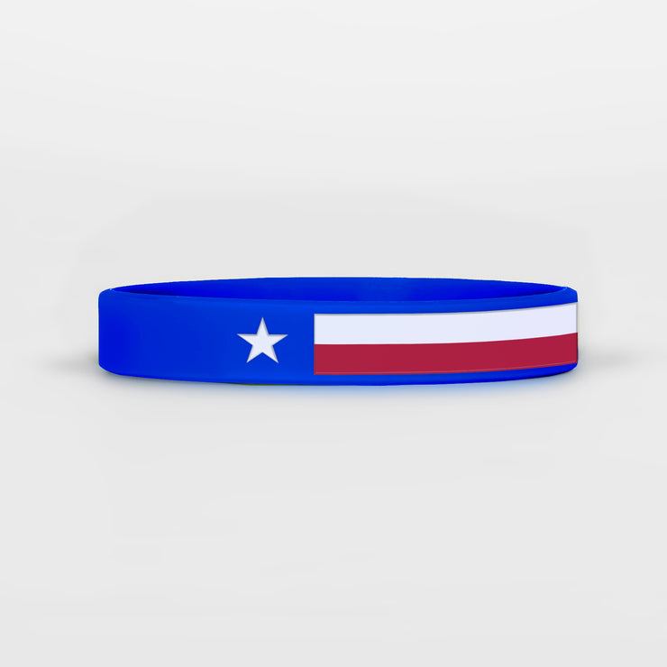 Texas State Flag Motivational Wristband