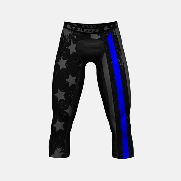 Tactical Thin Blue Line compression Three-Quarter tights / leggings