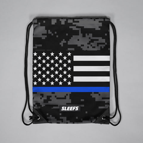 3d8326e3ce Thin Blue Line Flag Digicamo Drawstring Bag
