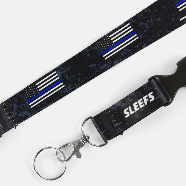 USA Thin Blue Line Lanyard