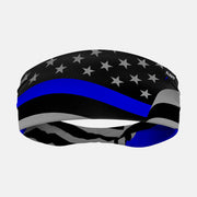 Tactical Thin Blue Line USA Wave Flag Headband