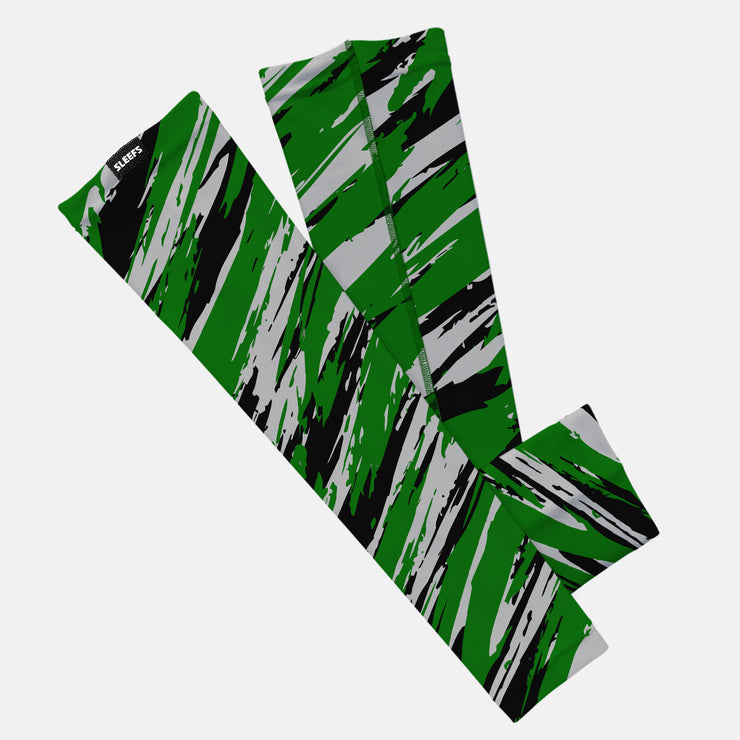 Tryton Green Black Gray Kids Arm Sleeve