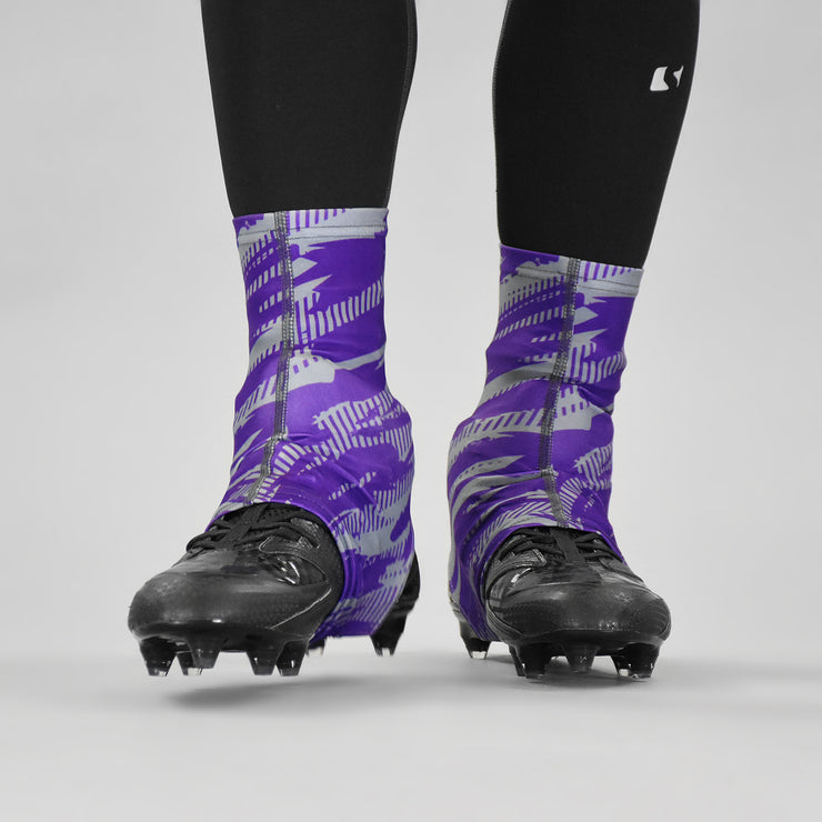 Tryton Ultra Gray Purple Spats / Cleat Covers