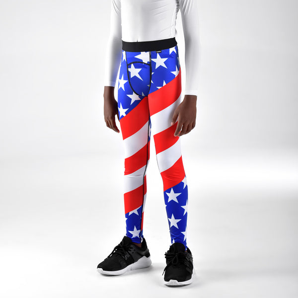 USA America Flag Tights for Kids