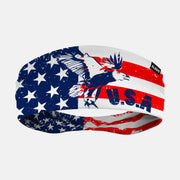 USA Letters Eagle Flag Headband