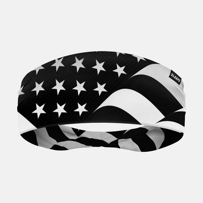 USA Flag Black and White Headband