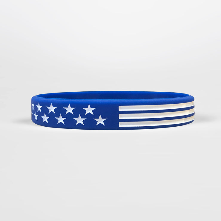 USA Flag Blue Motivational Wristband