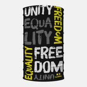 Unity Equality Freedom Black Yellow Neck Gaiter