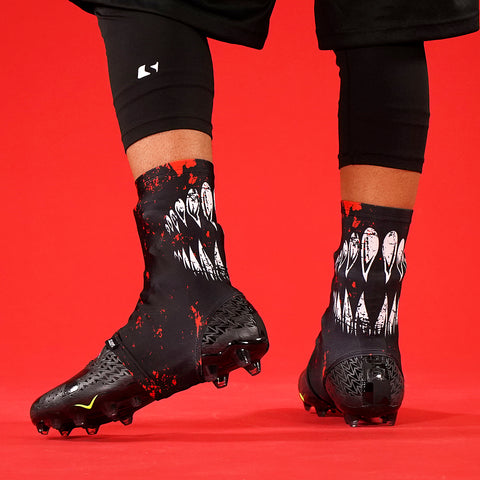 6e671fdda7a Villain Black Red Spats   Cleat Covers