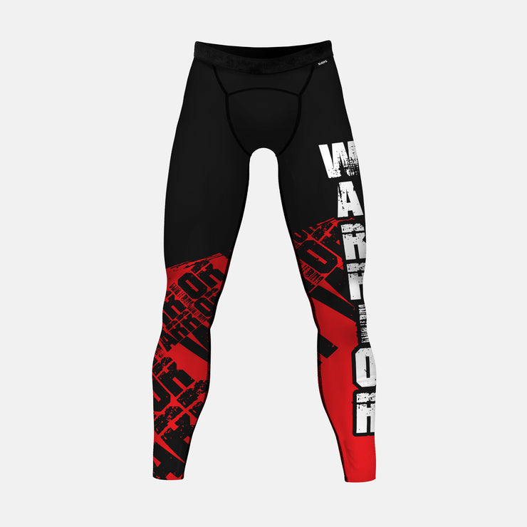 Warrior Spell Out Red Tights for Men