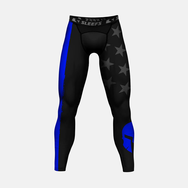 Warrior Thin Blue Line compression tights / leggings
