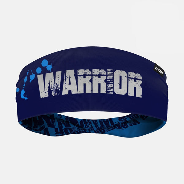 Warrior Spell Out Blue Double Sided Headband