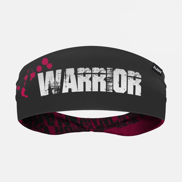 Warrior Spell Out Pink Double Sided Headband