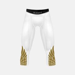 Icarus White and Gold compression 3/4 tights / leggings