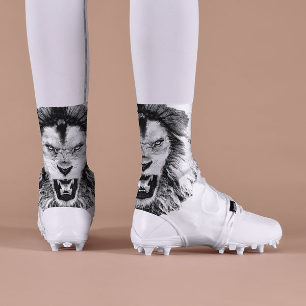 White Lion Roar Spats / Cleat Covers