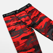 Red Camo Woodland Tights for men