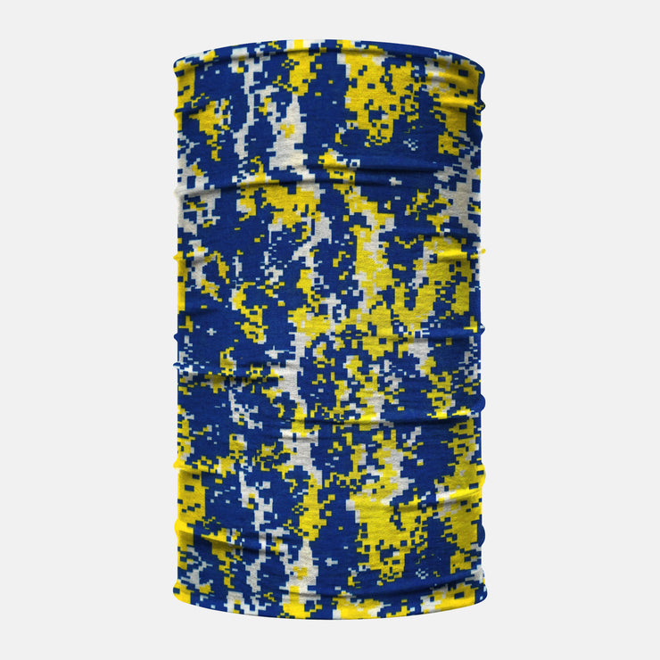 Yellow Navy Digital Camo Neck Gaiter