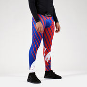 Aerial Blue Red White Tights for men