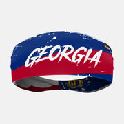 Georgia State Spell Out Doublesided Headband
