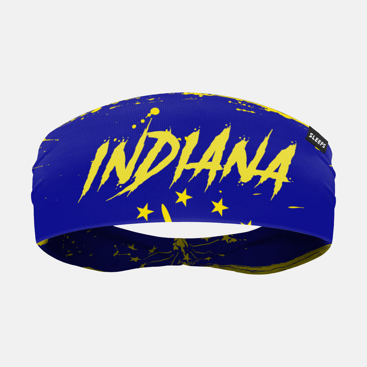 Indiana State Spell Out Doublesided Headband