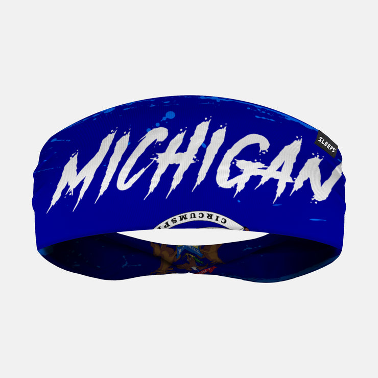 Michigan State Spell Out Doublesided Headband