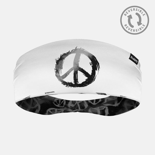 Peace Sign Doublesided Headband