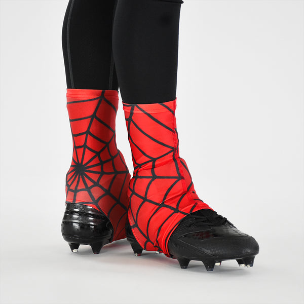 Red Web Pattern Spats / Cleat Covers