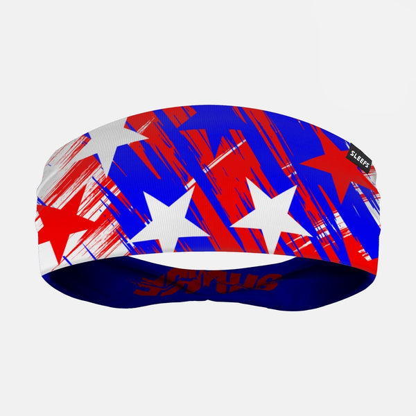 Savage Stars Red White Blue Double Sided Headband