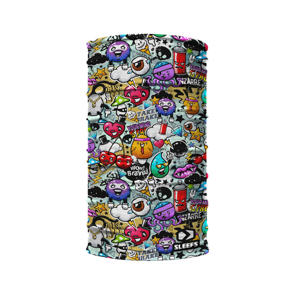 Street Art Collage Kids Neck Gaiter