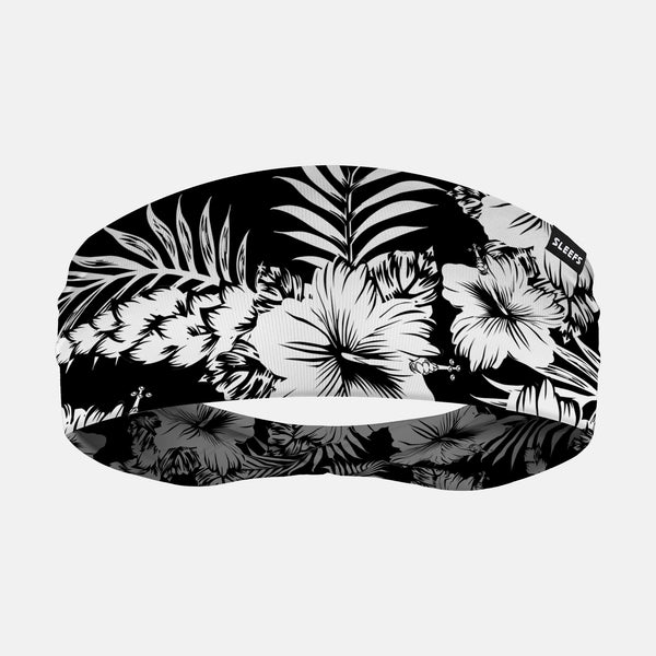 Floral Black White Headband