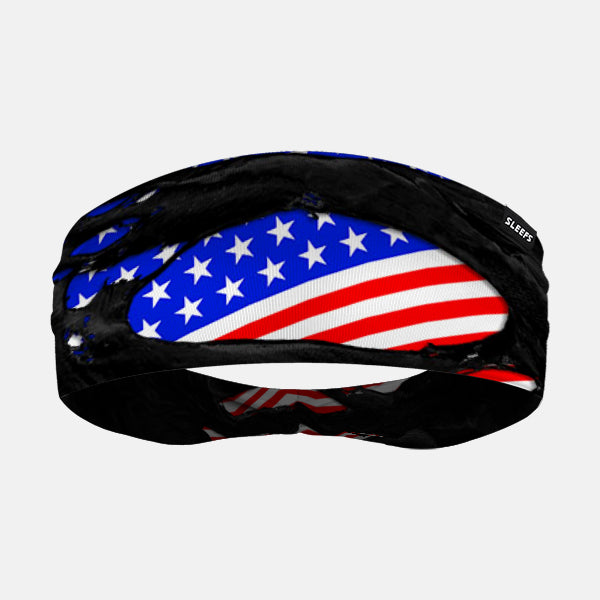USA Flag Ripped Headband