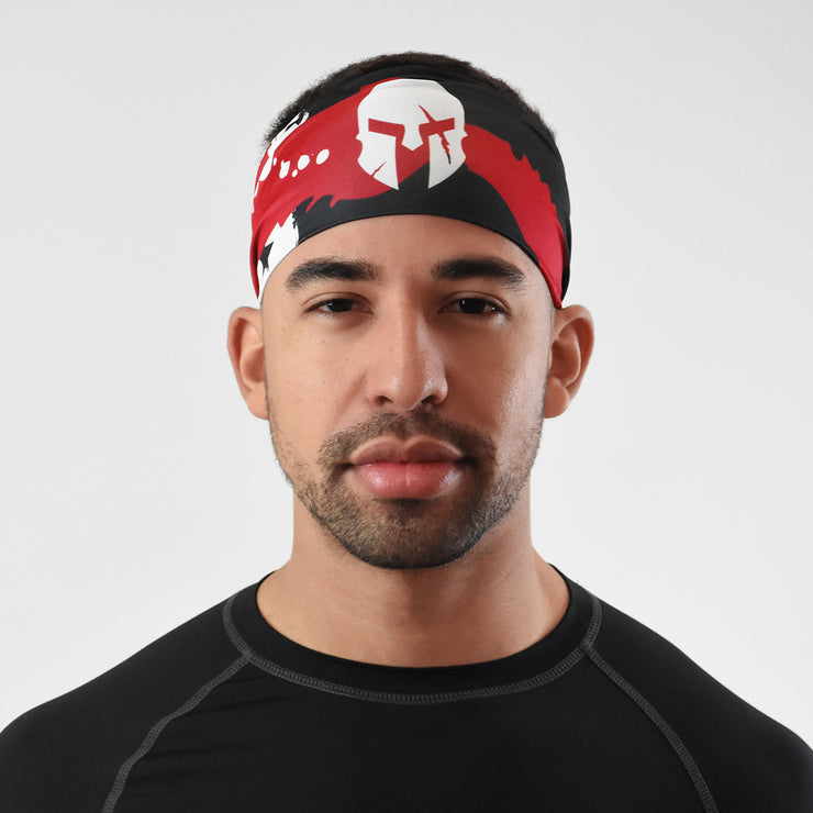 Ancient Helmet USA Red Black White Flag Headband