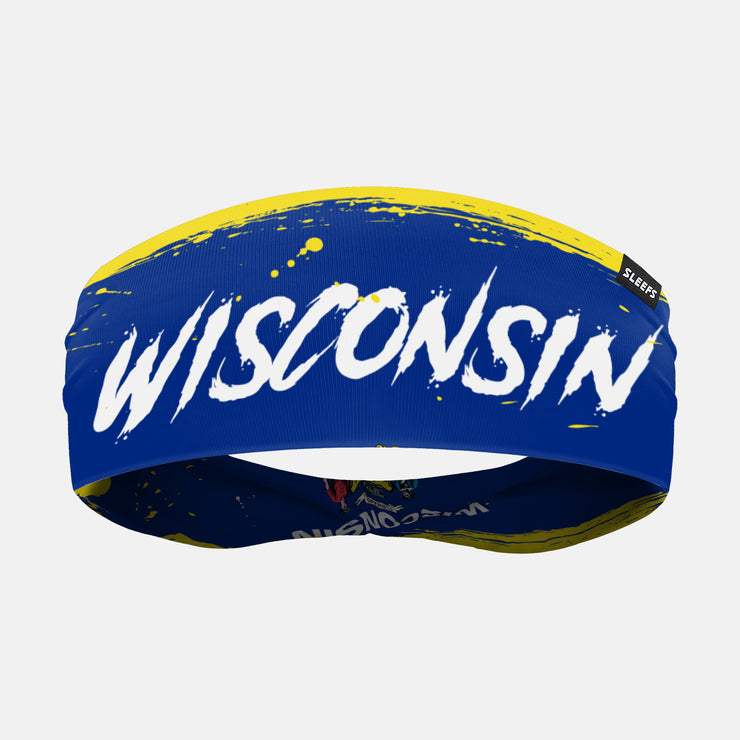 Wisconsin State Spell Out Doublesided Headband