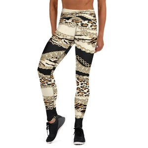 Chains on Animal Fur Yoga Leggings