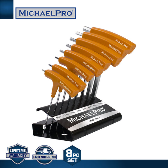 MP001044 8-Piece Two-Way T-Handle Allen Wrench Set with Convenient Storage Stand (Metric)