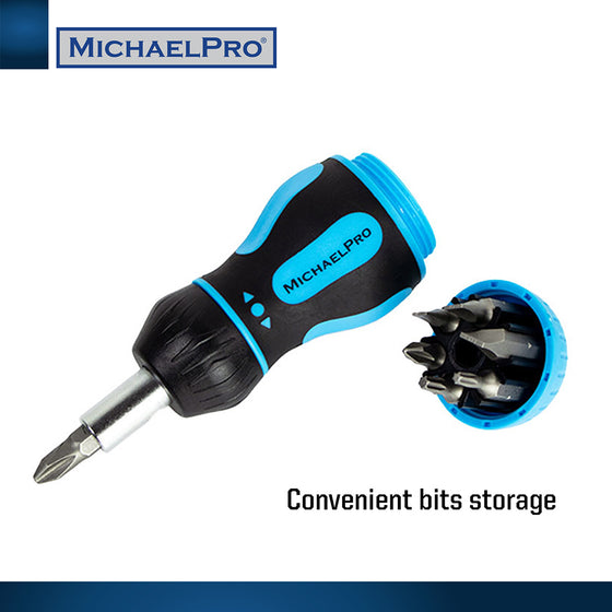 MP002005 7-in-1 Stubby Multi Screwdriver