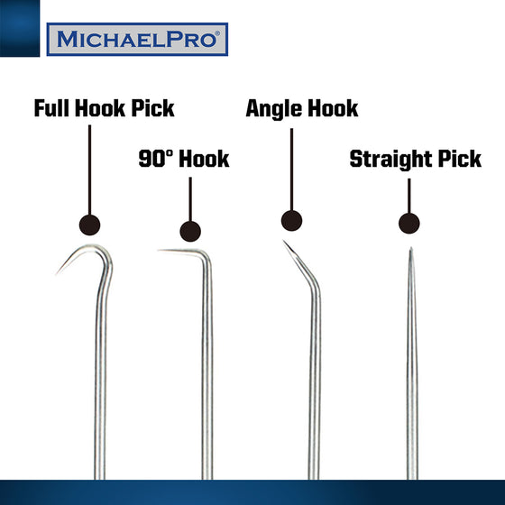 MP002006 4-Piece Precision Mini Pick & Hook Set